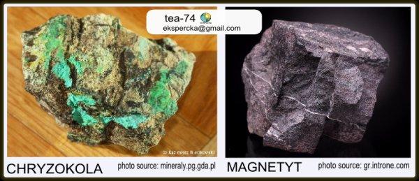 Chryzokola oraz magnetyt z Kletna